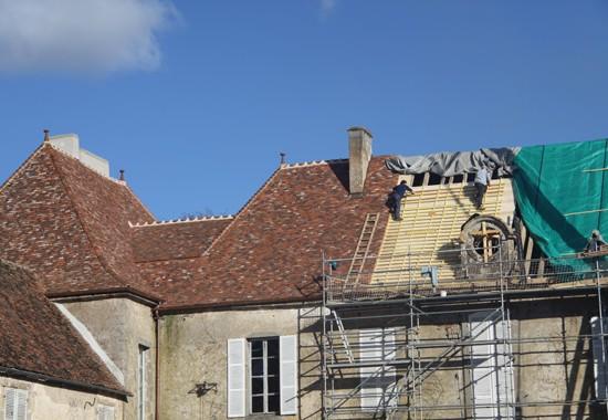Château de Lacour d'Arcenay en cours de restauration. Architecte : Frédéric Didier ACMH.